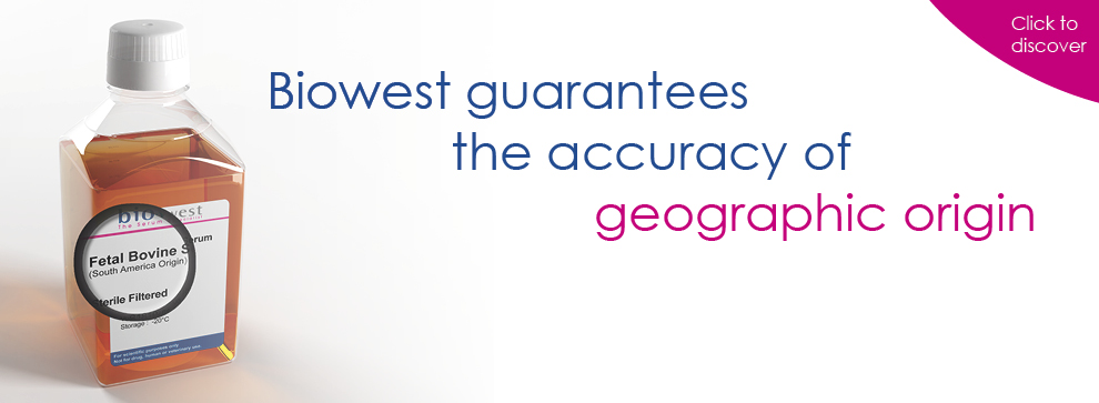 Biowest guarantees the accuracy of geographic origin
