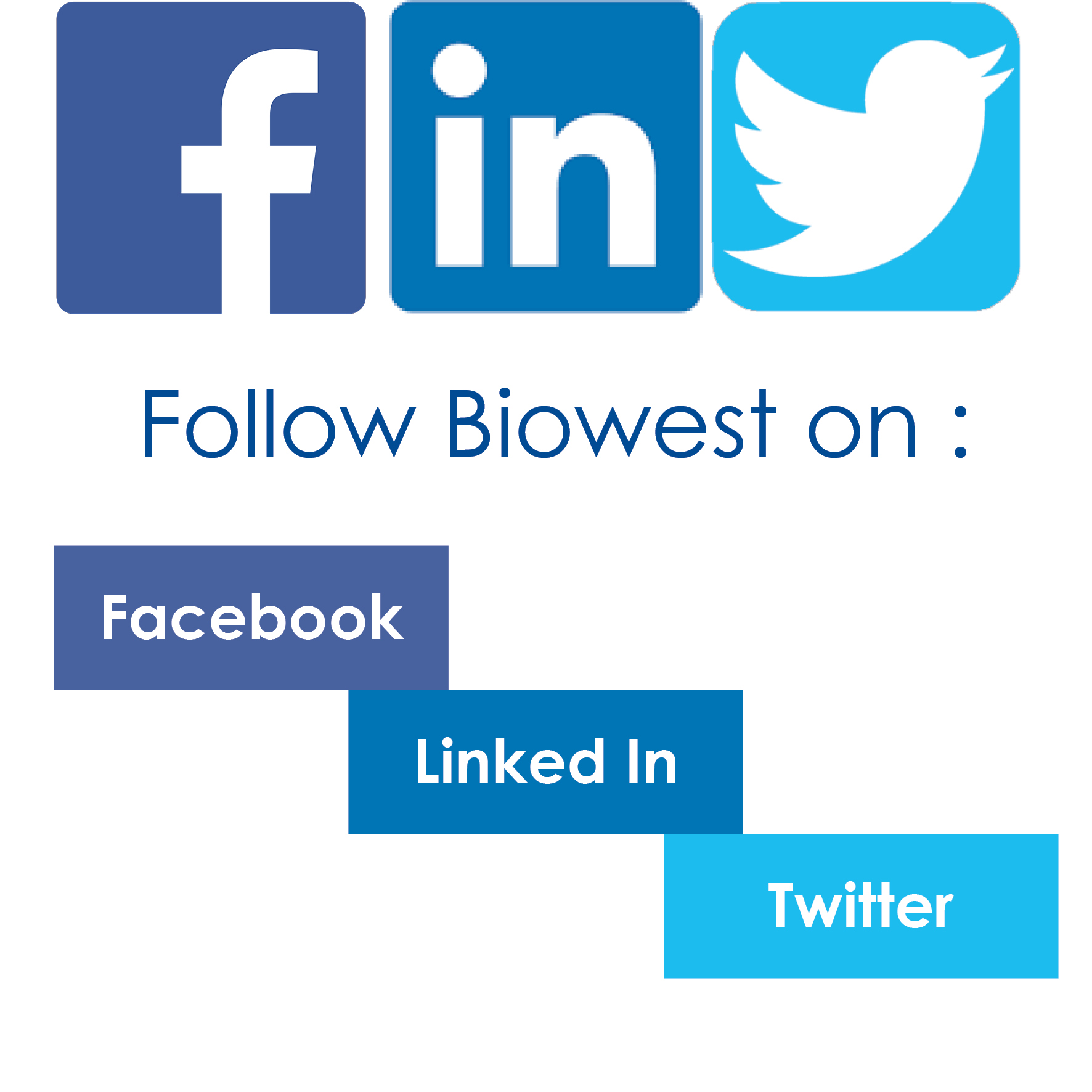 Biowest is on social media